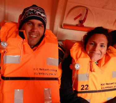Eventually both    Alexey Molchanov and Aurore Asso   dropped their life jackets to do their deep free dives in the    East Siberian Sea   ...