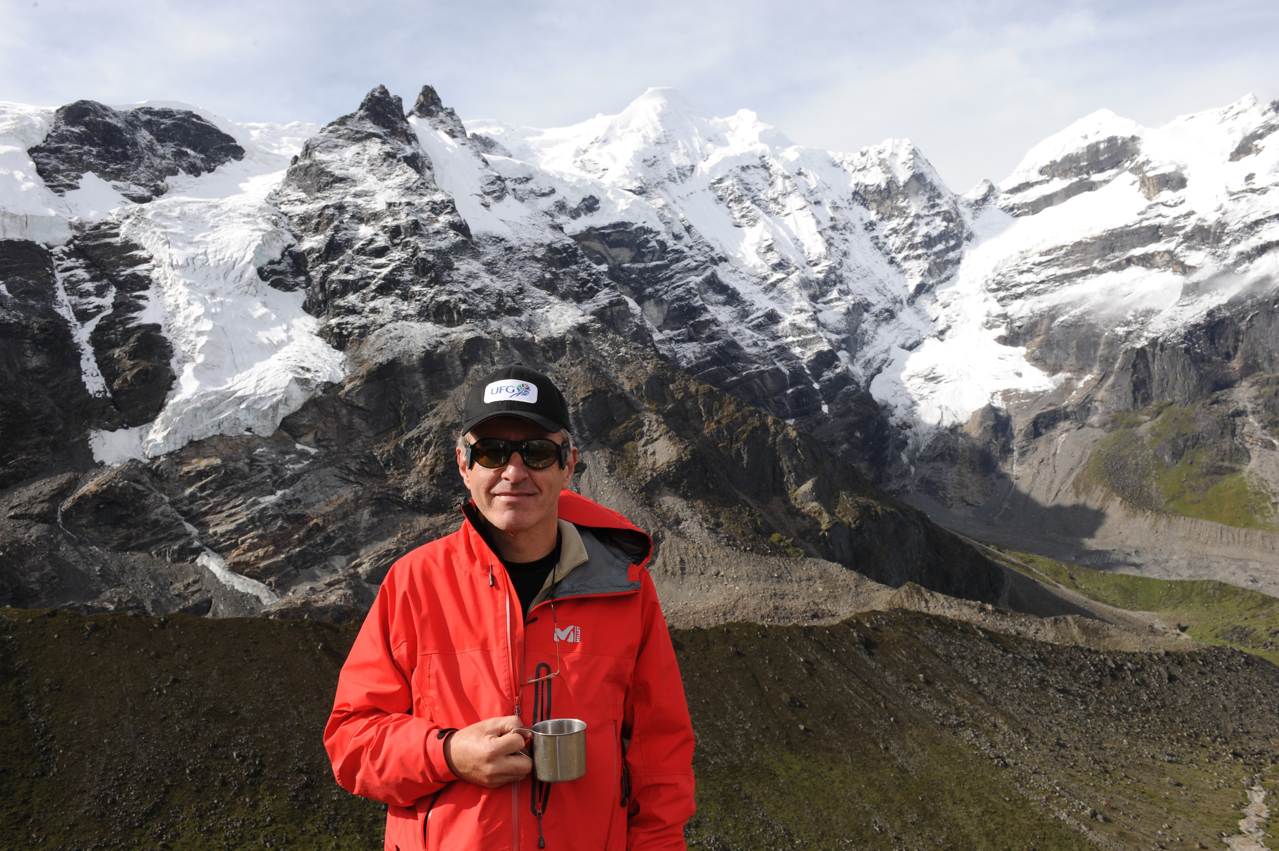 Christophe with Mera Peak in the background.