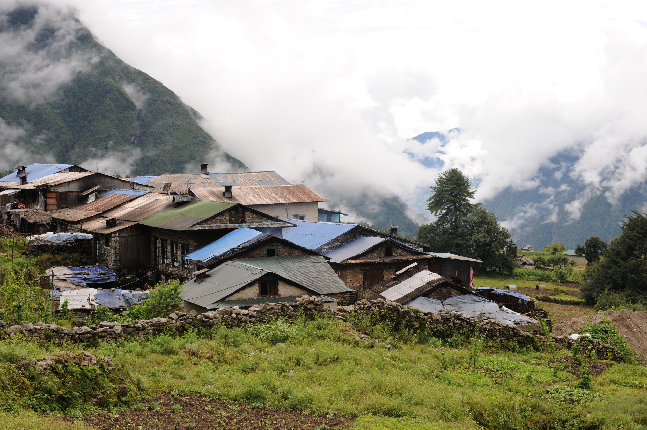 Near Lukla airport, where our expedition begins.