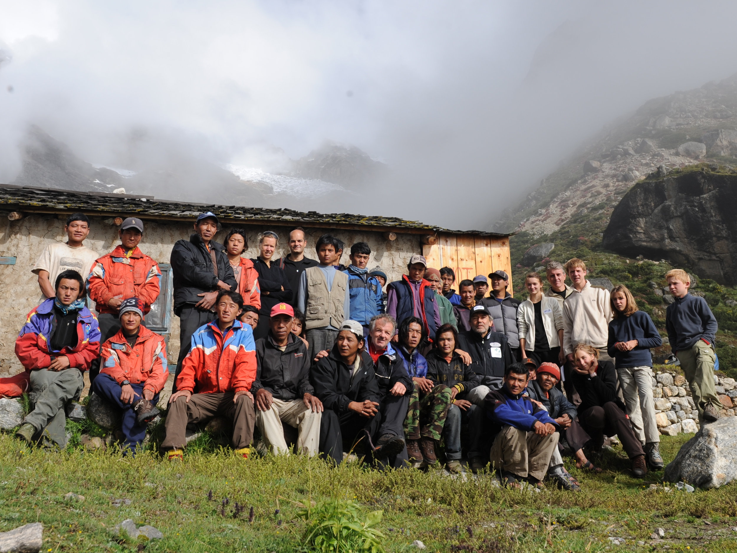 In Tangna, the Pax Arctica Himalaya 2009 team and sherpas - after the expedition.