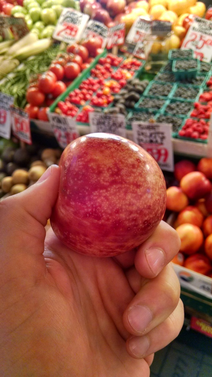 Also tried a pluot! Plum + apricot.