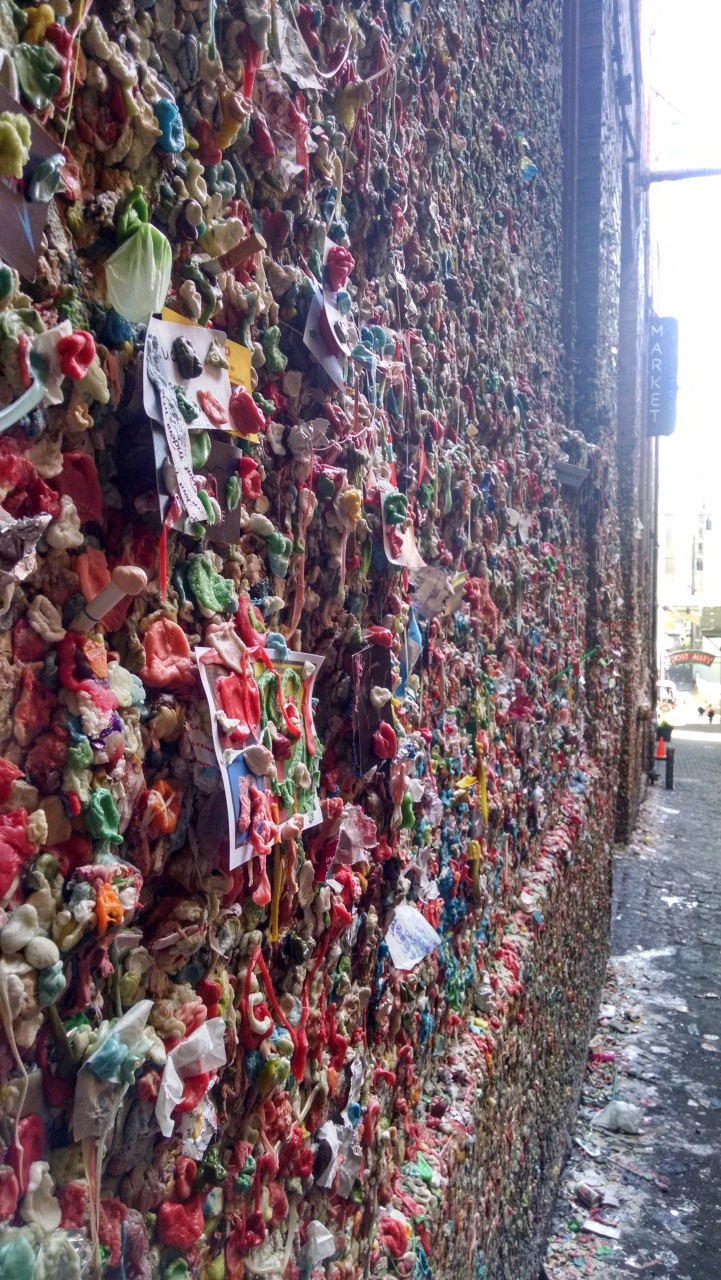And the much less appealing Gum Wall... yuck