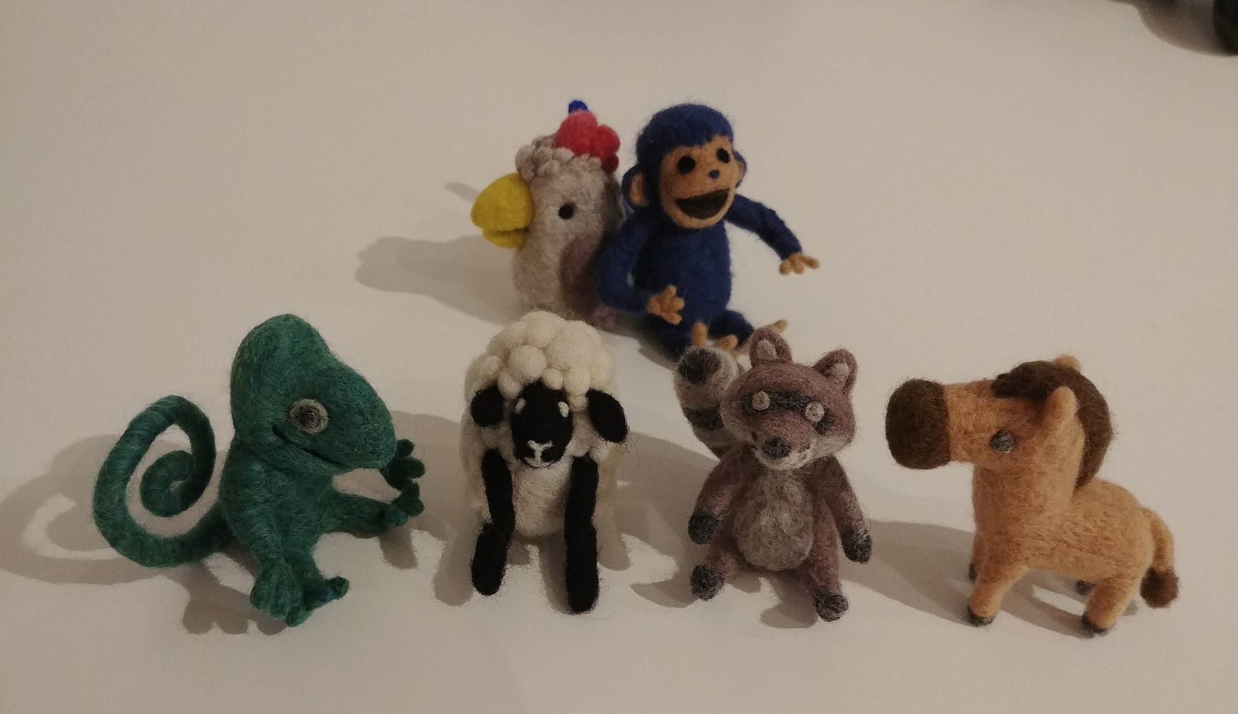 Needle-felted UCH Characters by  Lysandra Nelson