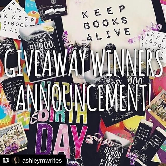 #Repost @ashleymwrites ・・・ It's Tuesday, and FINALLY time to announce our winners of the @bloodinkfire giveaway!! 🎉 🌟🌟🌟🌟🌟🌟🌟 AND the winners are… (drumroll please!) @lorianne162  @girlbakers @briannaaaaaaa._  @lorianne162 Congrats, you are our grand prize winner! 🎊You've won a signed copy of BLOOD, INK & FIRE autographed by author @ashleymwrites and @alexpettyfer, as well as a bundle of awesome swag from the Official Store!🌟 @girlbakers and @briannaaaaaaa._ You've both won a signed copy of BLOOD, INK & FIRE autographed by author @ashleymwrites and @alexpettyfer!🎉 A huge THANK YOU to everyone who entered our giveaway! 😁  And a big THANK YOU to the awesome booktuber, Victoria of @novelreality for helping me run this!! ❤️ Go check out her YouTube channel guys- she's awesome. 😁 . . #bloodinkfiregiveaway #winner #giveaways #freebooks #win #contest #entertowin #lovebooks #ya #novel #yaseries #book #books #booklover #alwaysreading #booktube #booktuber #swag #signedbook #dystopia #signed #alexpettyfer #bloodinkfire #keepbooksalive
