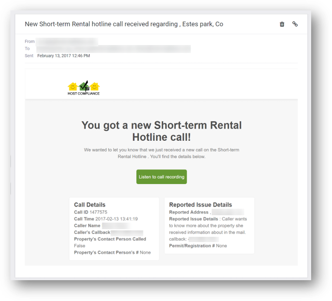 Short-term vacation rental hotline complaint - email notification.png