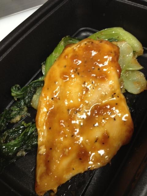 apricot-miso glazed salmon