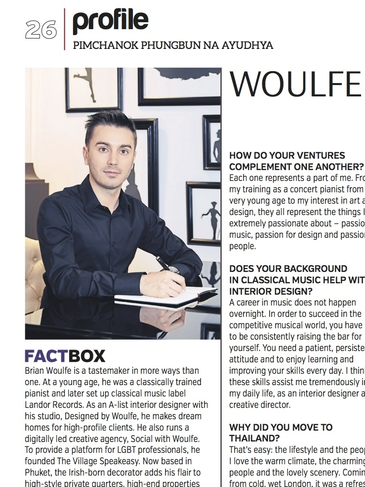Brian Woulfe, Designed by Woulfe - Bangkok Post