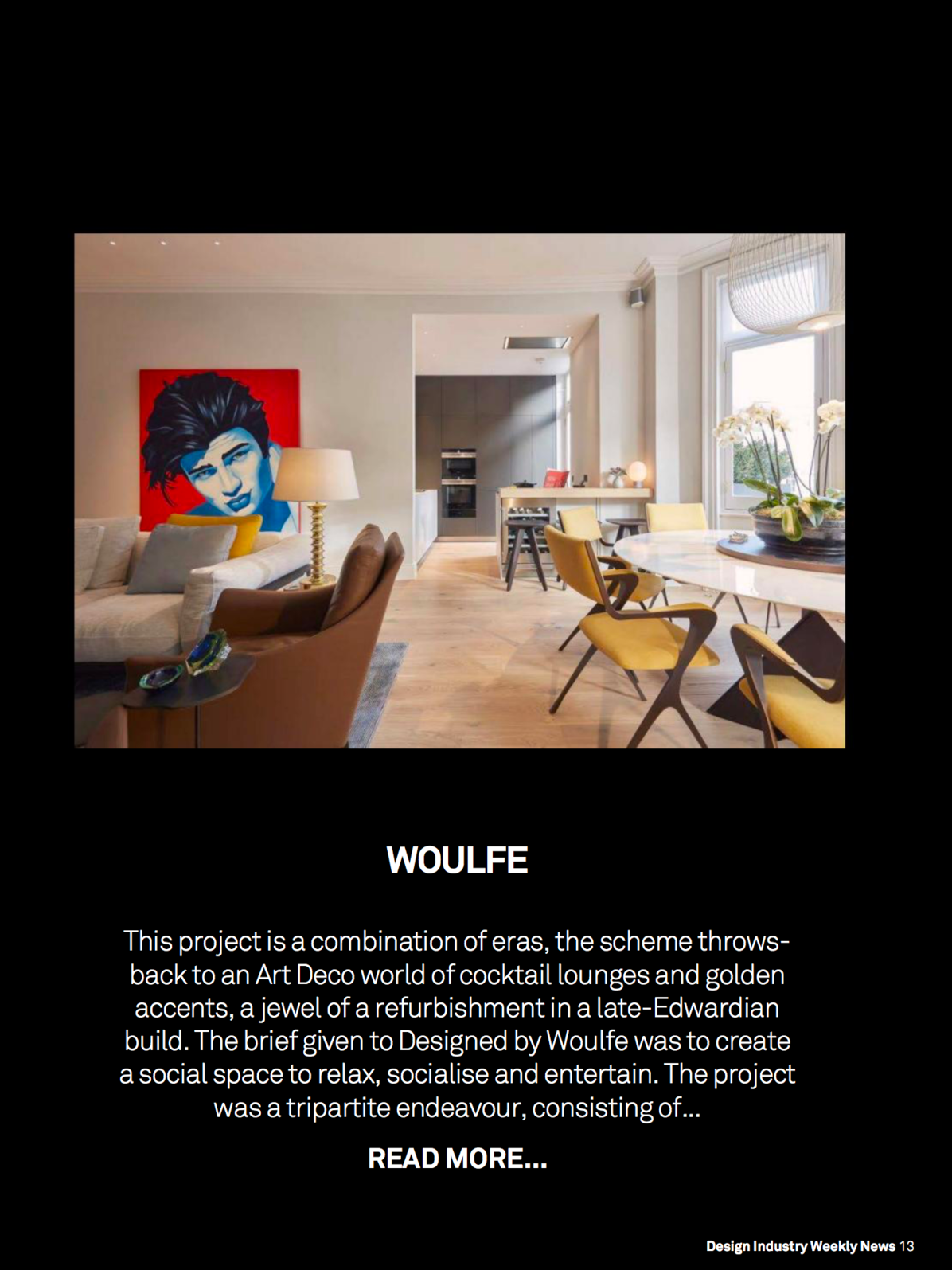 Designed by Woulfe featured in Design Industry Weekly News