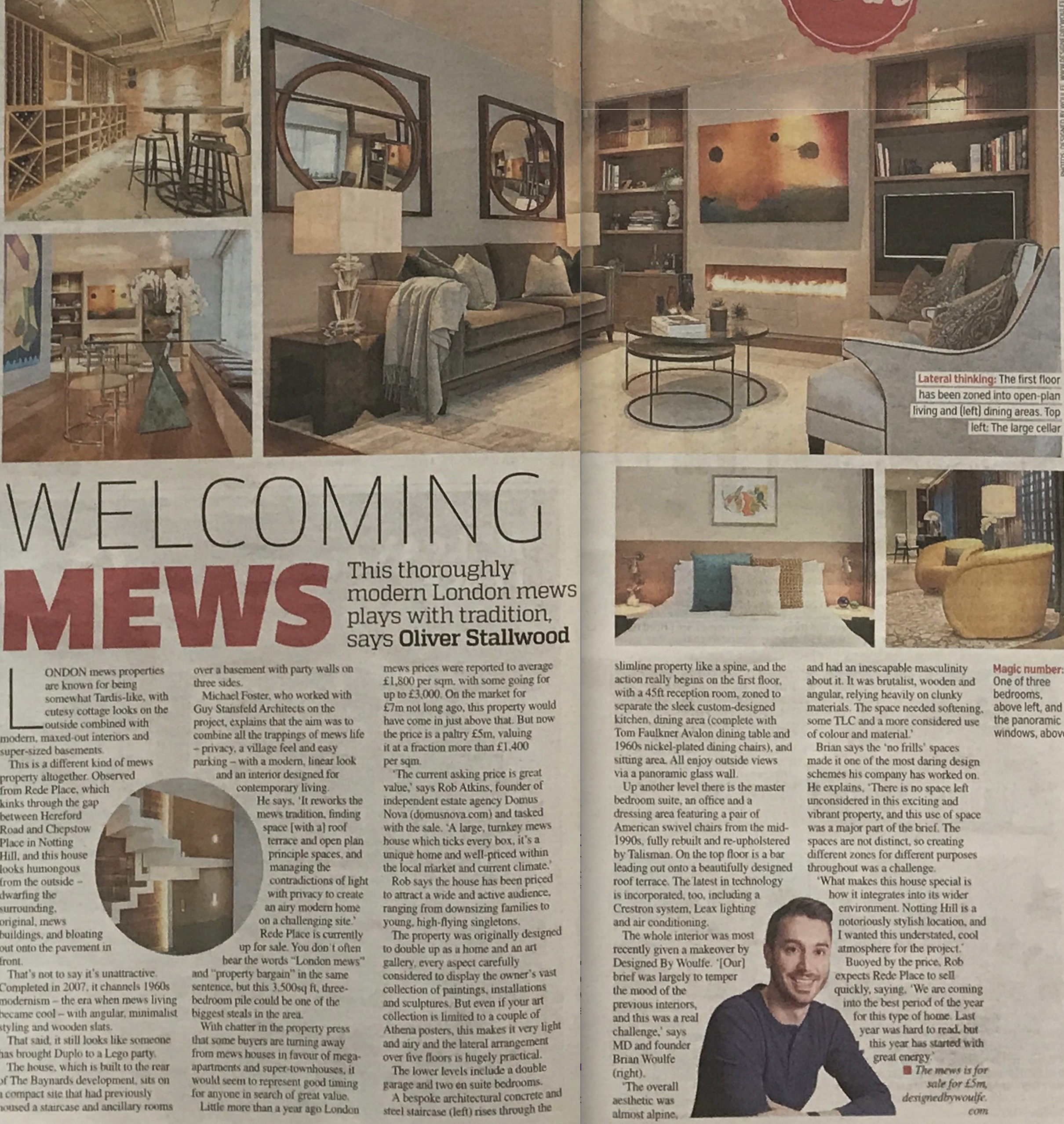 Designed by Woulfe, Metro UK, Property Pages, Brian Woulfe Interior Designer