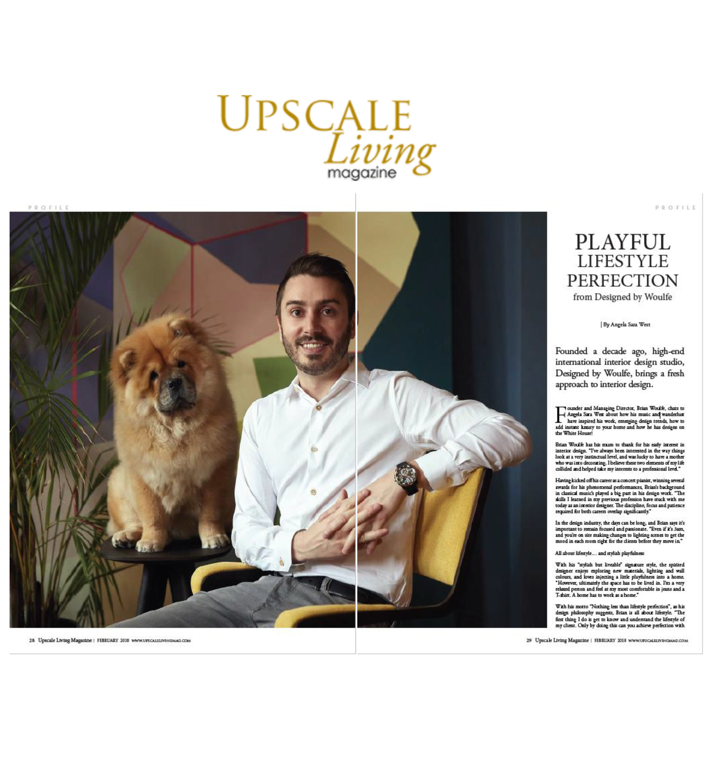 Upscale Living Magazine, Brian Woulfe, Designed by Woulfe