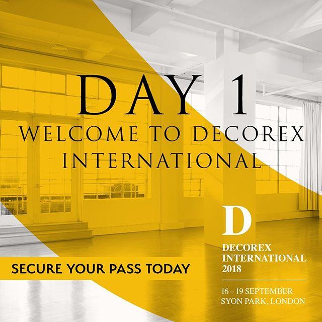 DAY 1 @decorex_international  Make sure you check out our entrance design!