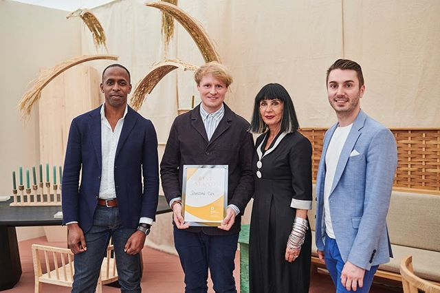 "Decorex International Awards 2018  This year I had the honour of joining Sue Timney and John Allsopp as a Decorex Awards Judge.  We had the pleasure of presenting the award for ""Best Stand"" to Sebastian Cox.  @sebastiancoxltd @suetimney @johnallsoppstudio @decorex_international"