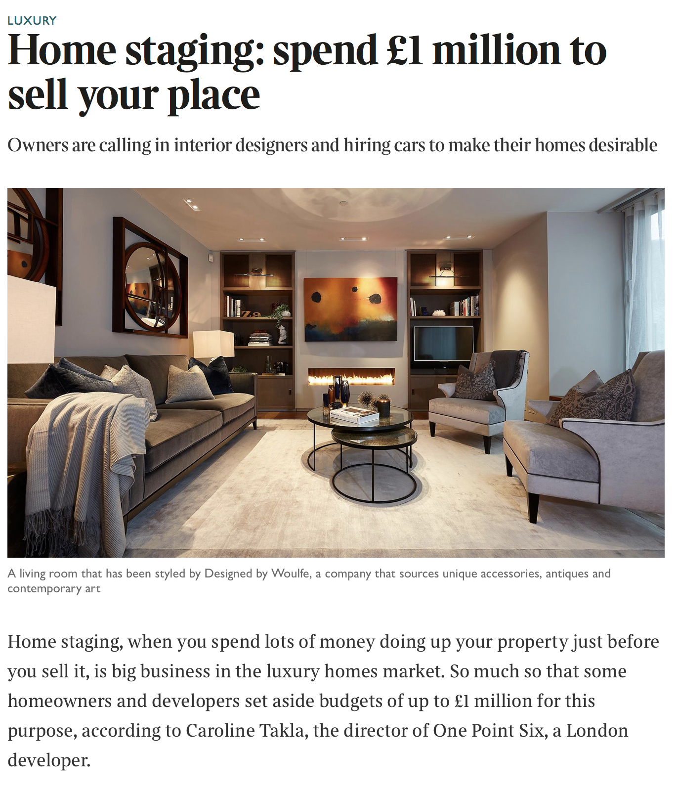 The Times, How to sell your property