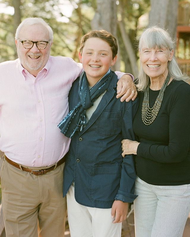 This is from July 29. The day Wyatt turned 13. My wonderful mother and father in law have a tradition of taking out each grandkid on their 13th birthday to a fancy dinner in San Francisco. Wyatt loved every second of it and said he felt so important. This photo makes me burst with love and gratitude for Tom and Janet (my in laws). . . . #filmbabyfilm #middleschoolyears #13 #familyiseverything