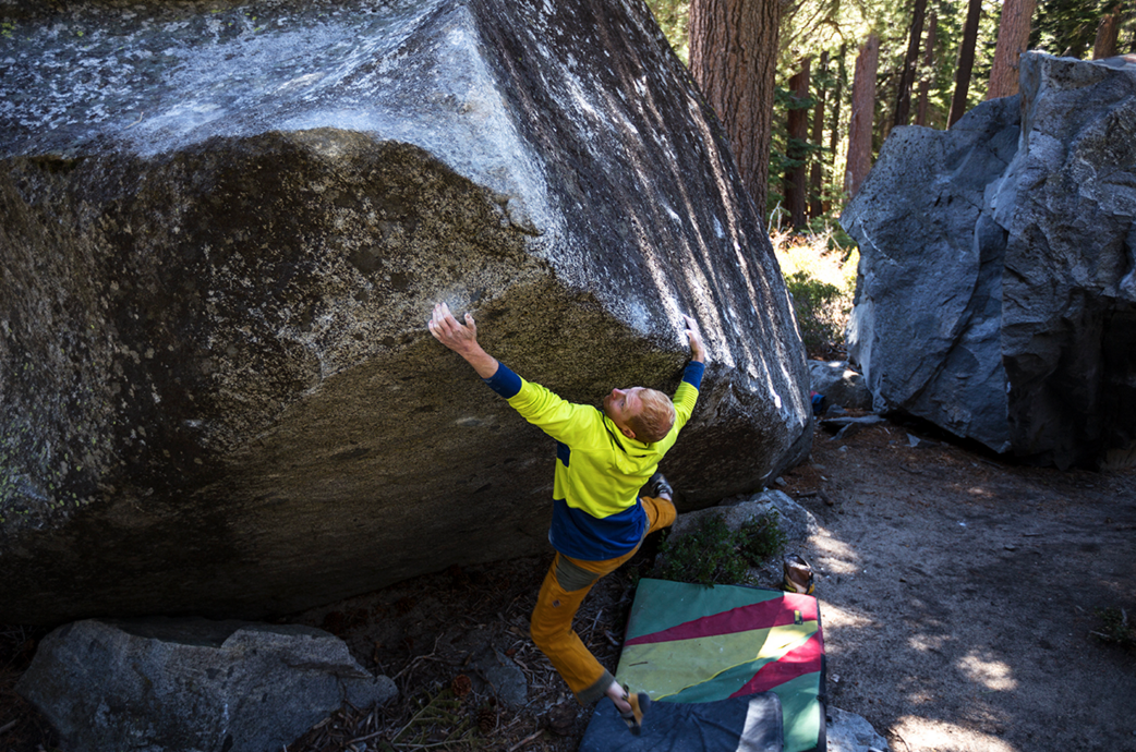 "Jon Thompson on the second ascent of ""Bulldozer"" v7"