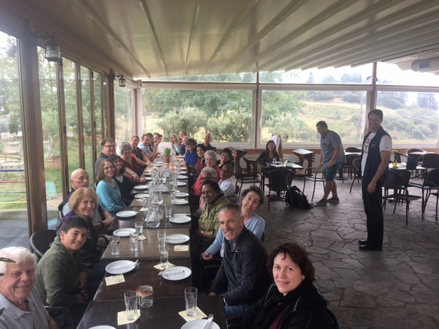 lunch in Ayios Antonios with representatives of IOCC