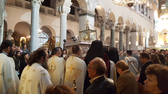 Processing the Holy Relics of St. Demetrius through the Cathedral
