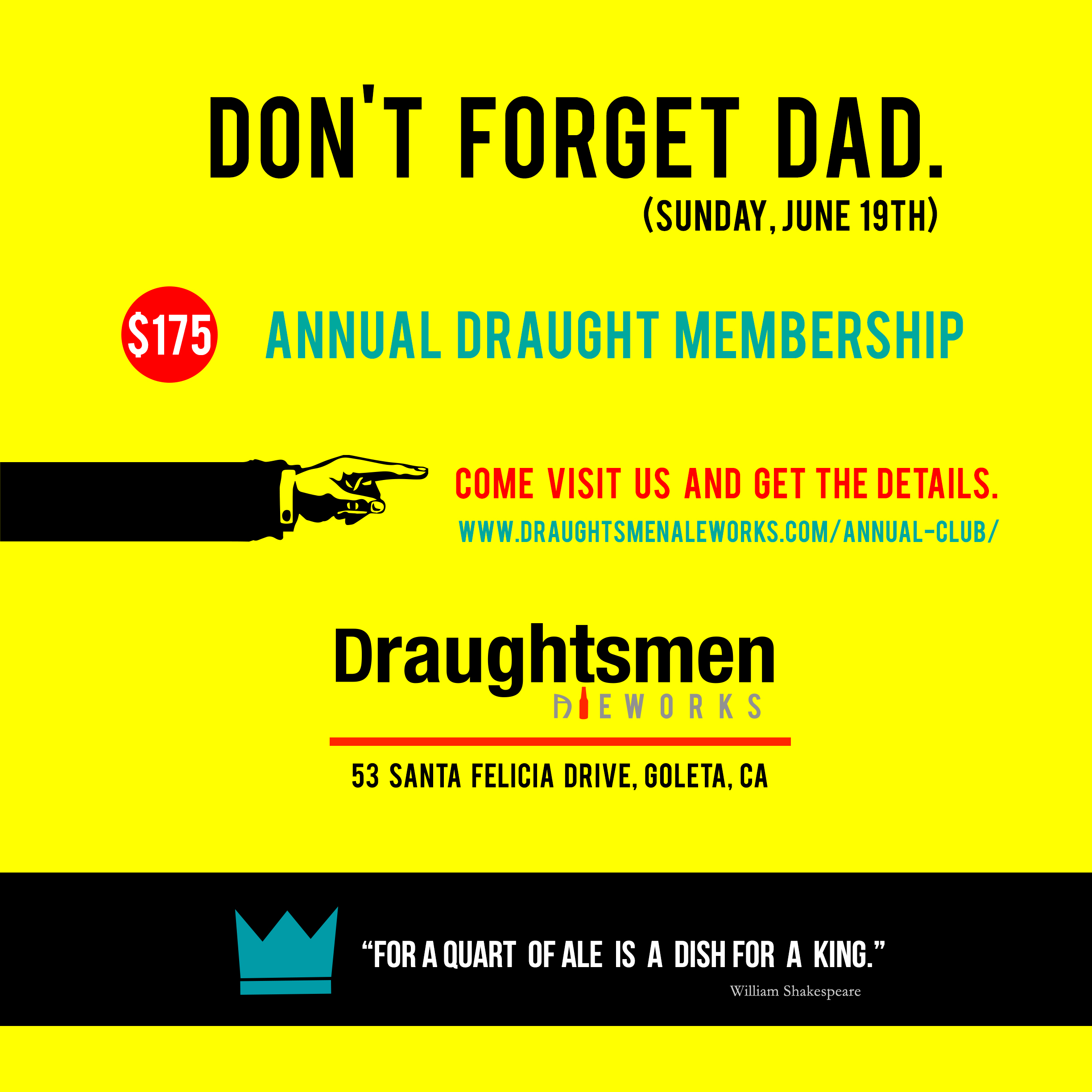 Annual Draught Fathers Day