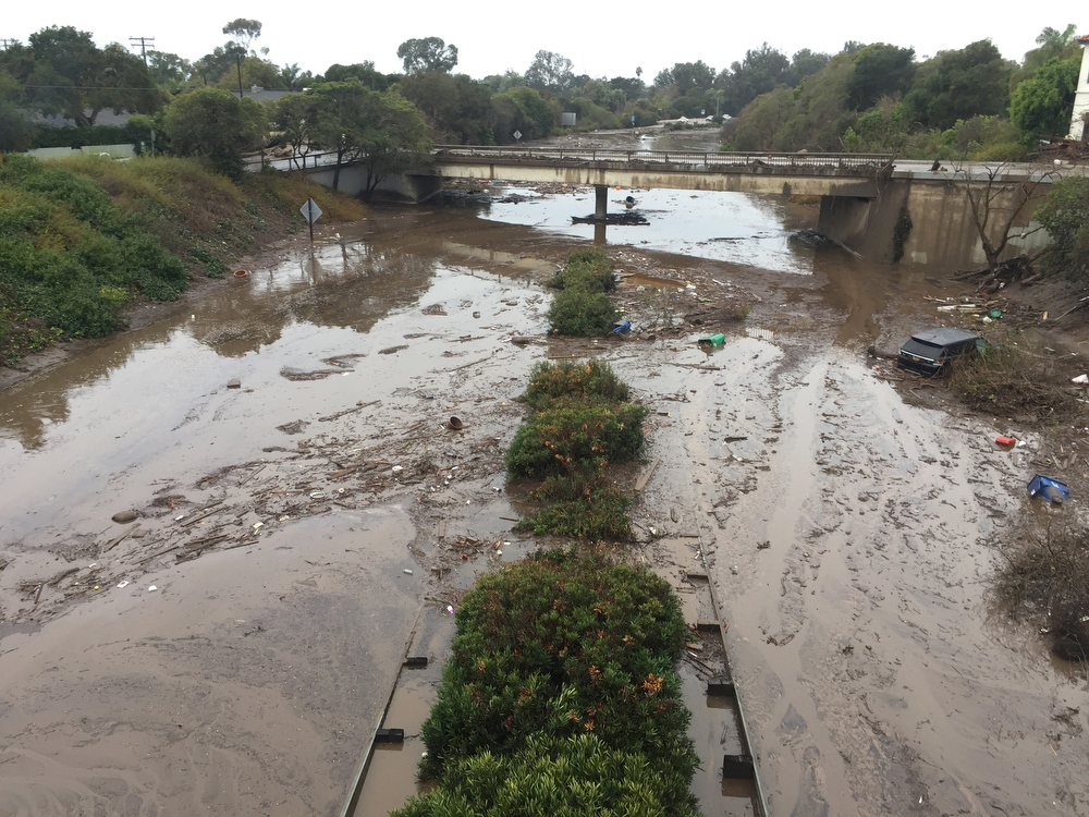 anuary 2018 mudslide that covers the 101 Freeway in Montecito. Photo Credit: Paul Wellman, The Santa Barbara Independent