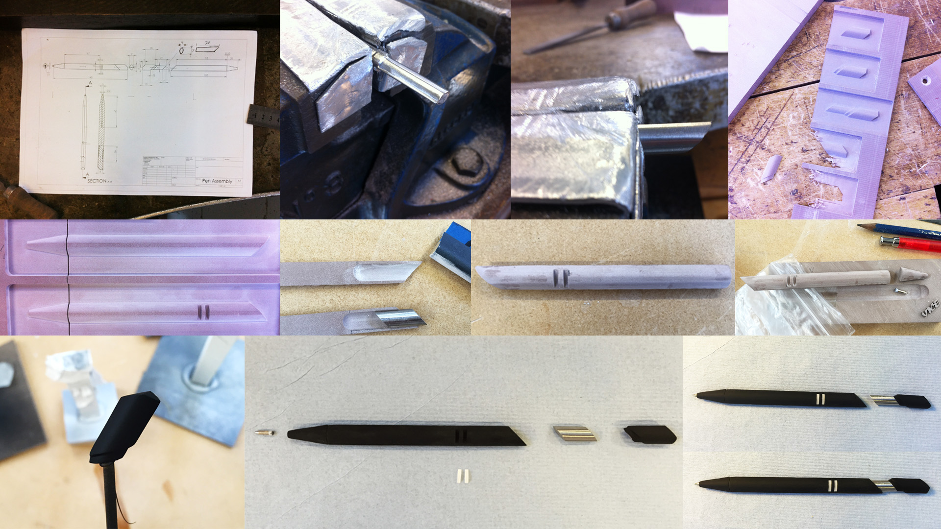 Model making process step by step.