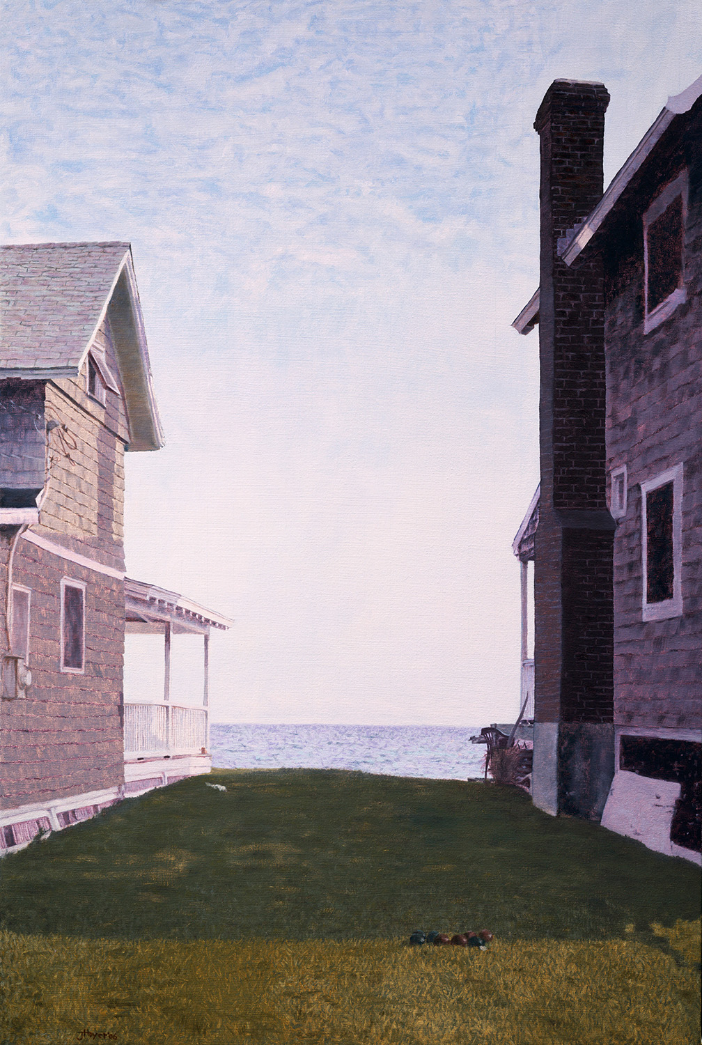 Between 2 Houses , 2006 Oil on linen 40 x 27 inches