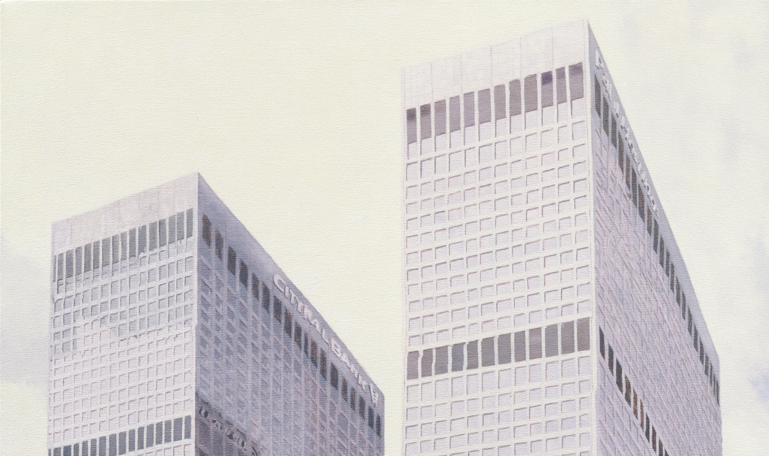 Arco Towers  (Detail), 2007 Oil on canvas 50 x 35 inches