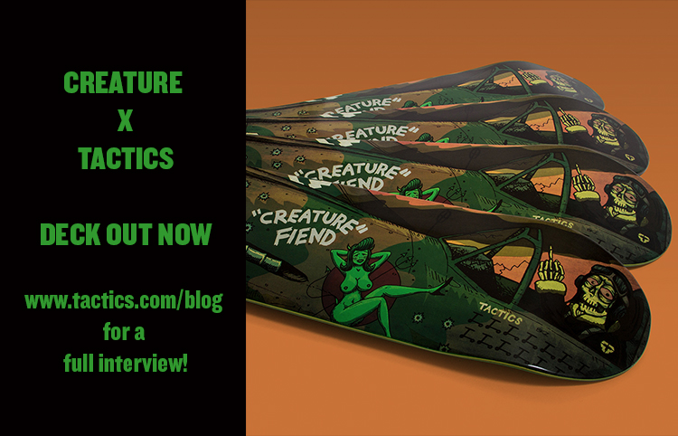 Had the privilegeof designing the new Creature X Tactics collab! Check out the full interview with me about at tactics.com!