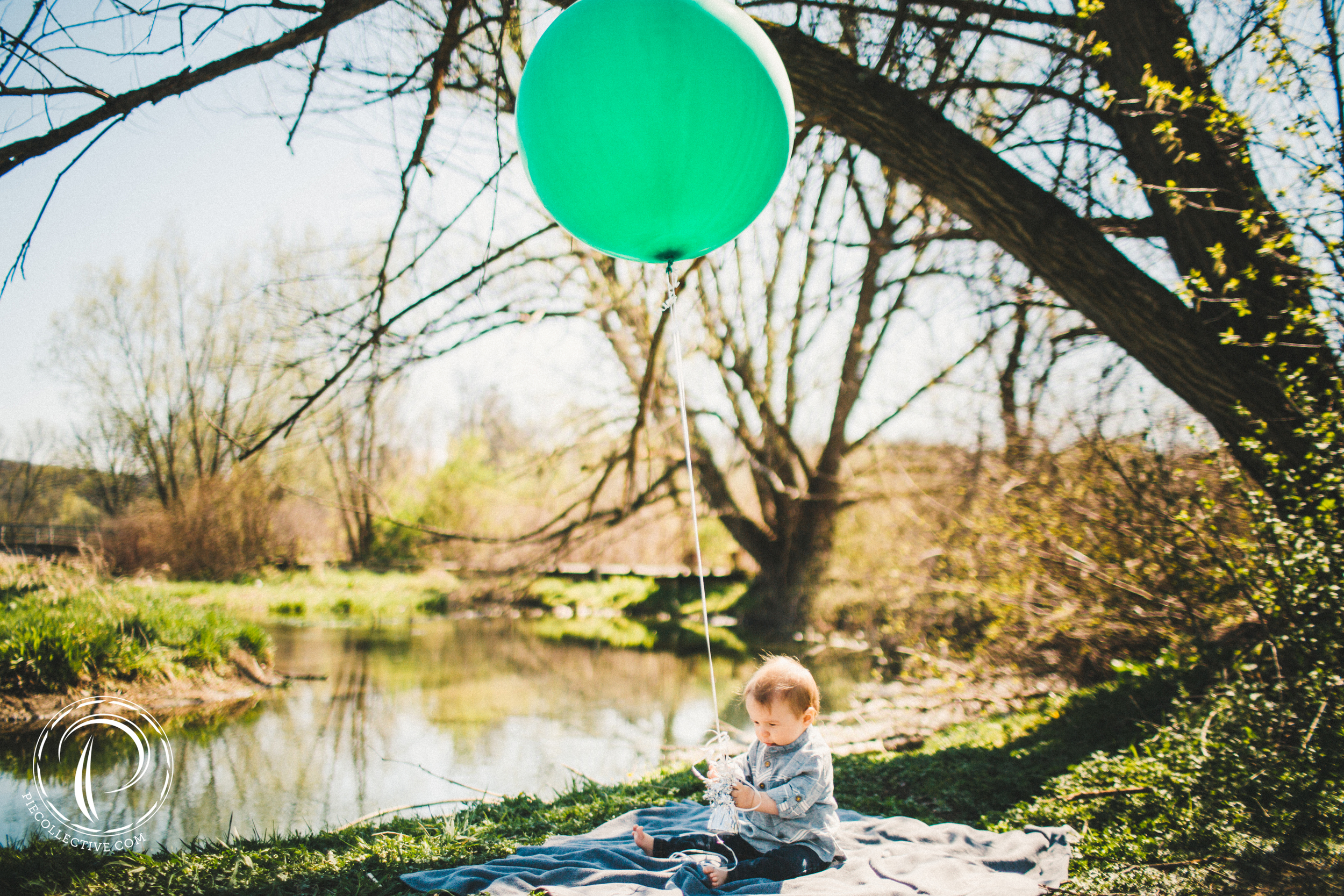 A boy and his green balloon...