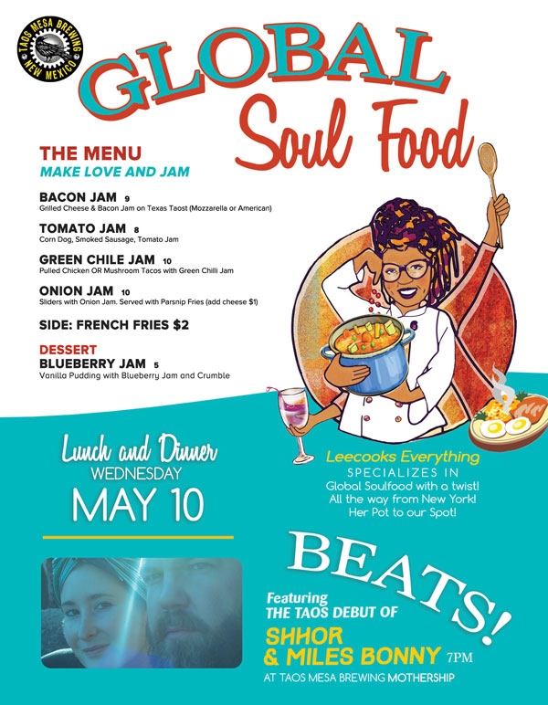 SHHOR's 1st show in USA featuring Miles Bonny as DJ and co-performer.  GREAT FOOD from LeeCooks Everything!!  www.TaosMesaBrewing.com