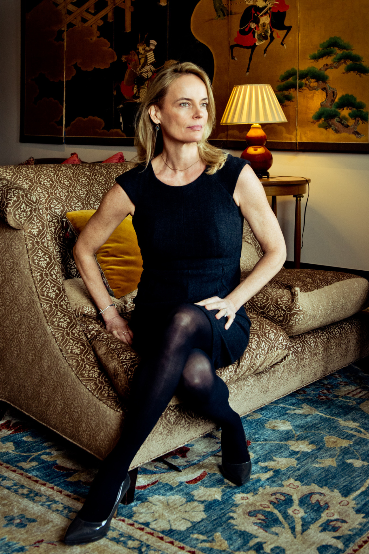 gabherman :     Author Maureen Sherry, shot for  The New York Times . Look forward to reading her new book, Opening Belle, about a female working on Wall St, especially after my Michael Lewis binge.