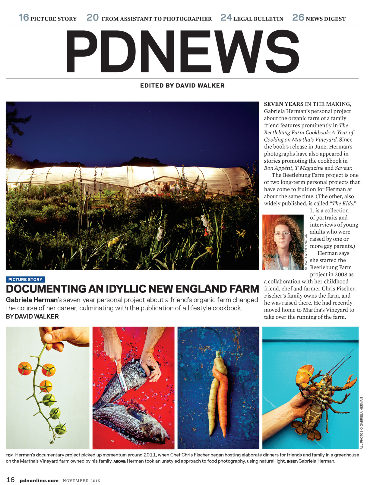 In this month's PDN I spoke with David Walking about my Beetlebung Farm project.Read the article  here .