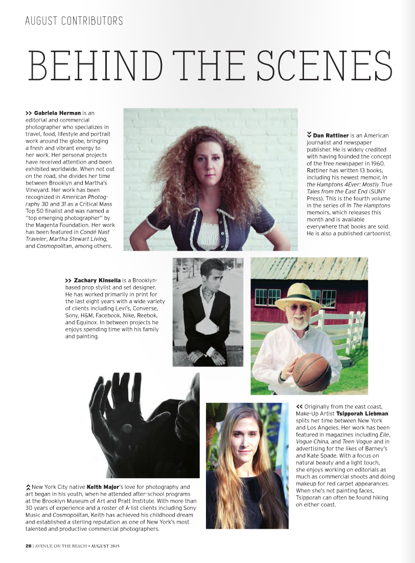 Contributor shout-out in Avenue Magazine