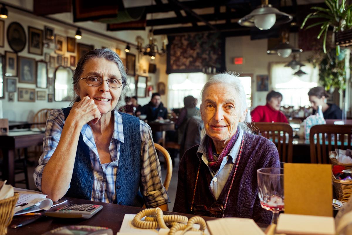 Vegetarian feminist bookstore, Bloorroot run by Noel Furie and Selma Miriam