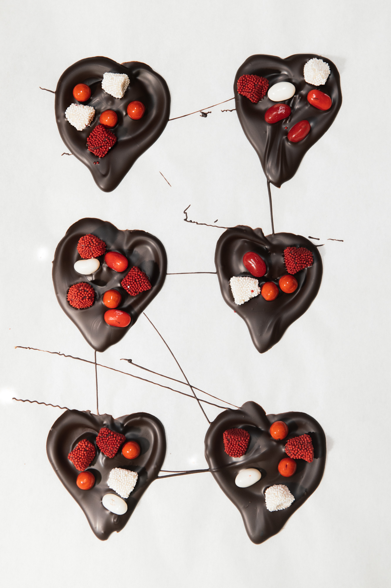 the heart chocolates to go inside the chocolate box