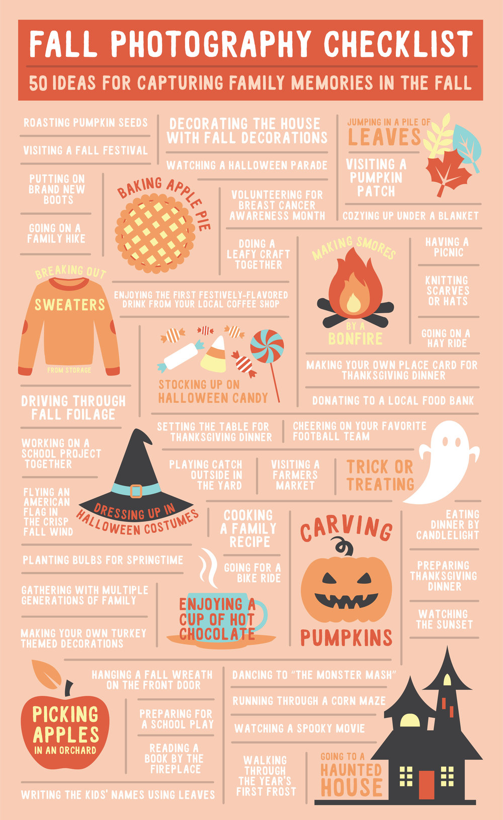Fall Photography Checklist