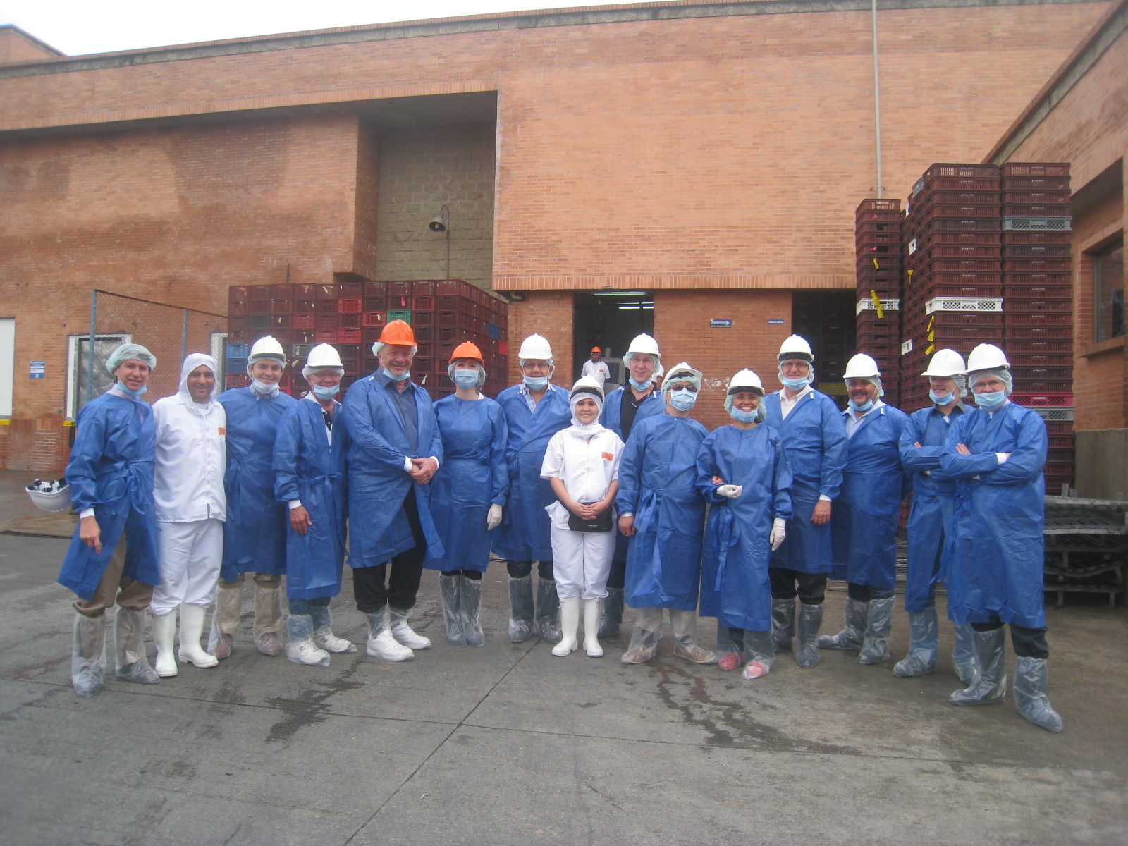 Preparing to tour a production facility