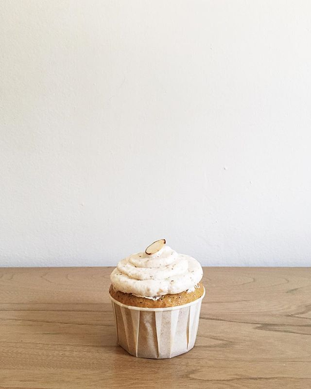 Pistachio + Toasted Almond Cupcakes at @monarchcoffeekc tomorrow! Make plans to grab one for yourself! Limited supply.