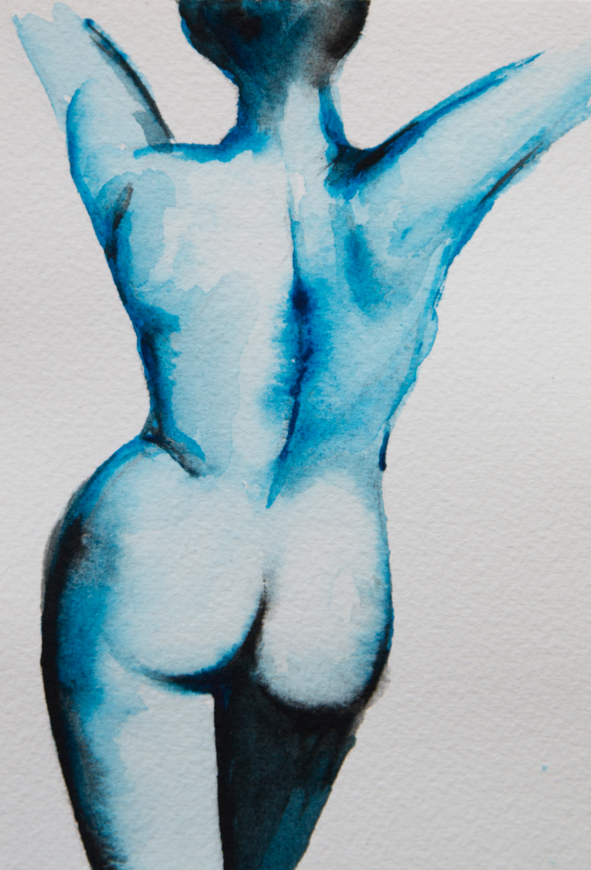 """The freedom of movement - A6 (4.1"""" x 5.8"""") Watercolour on Arches 300gsm paper."""