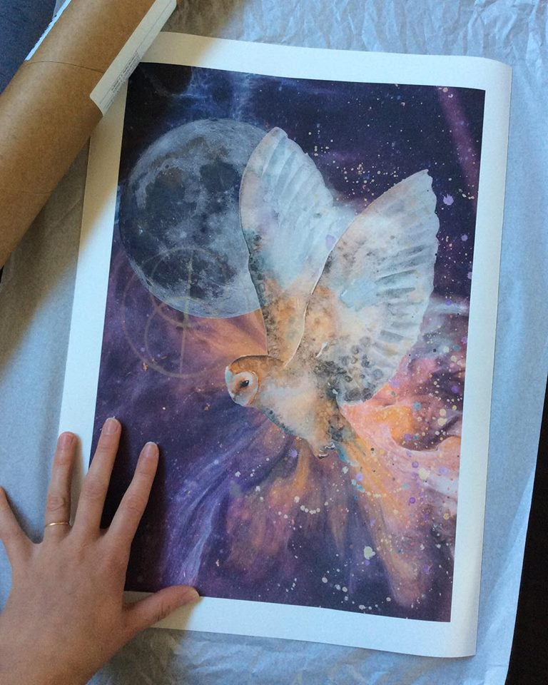 The divine owl print - zoe wood 2017