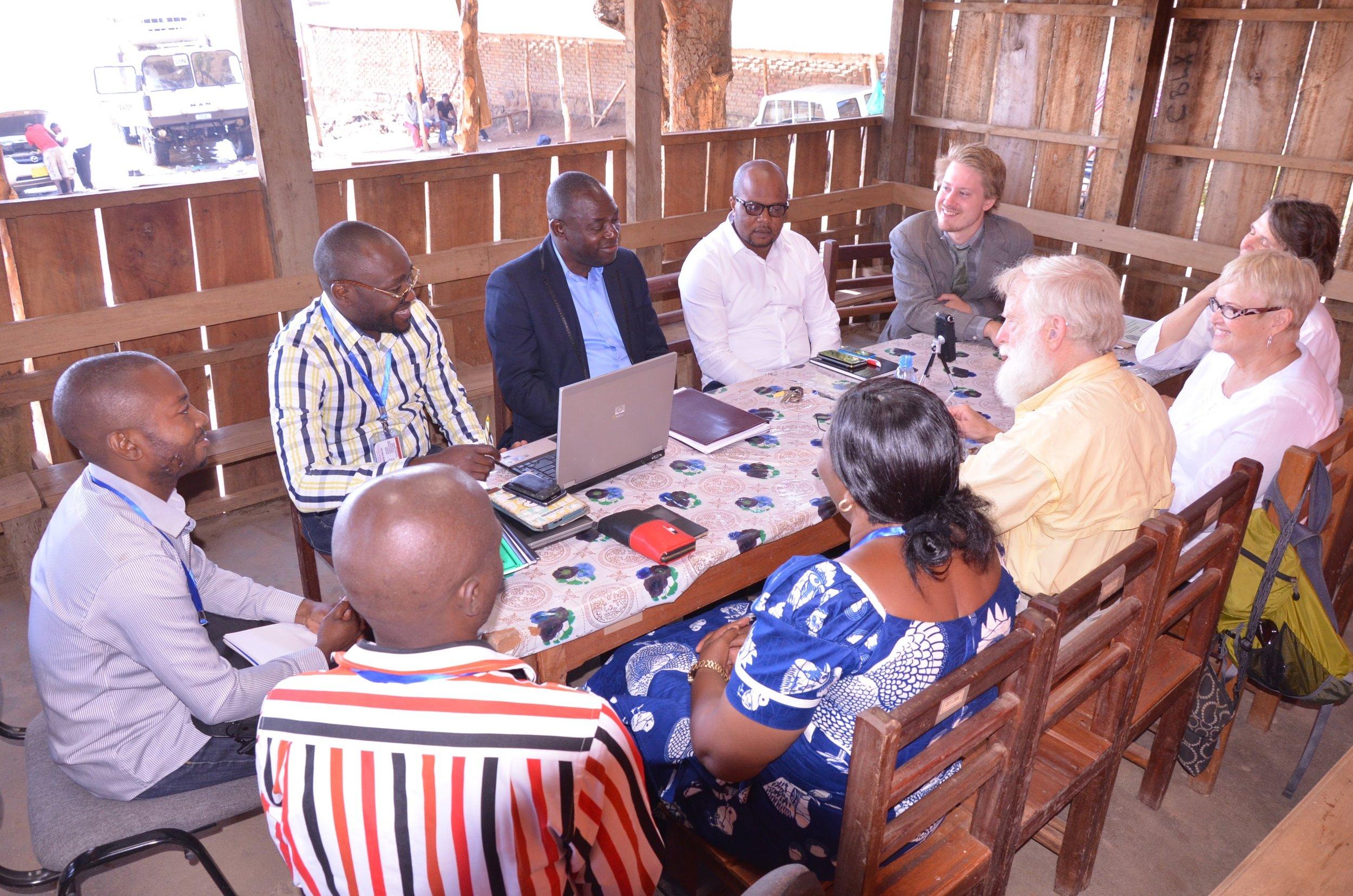 Members of Mwendo Congo meeting with members of Idjwi Initiative. Bukavu, June 2016.