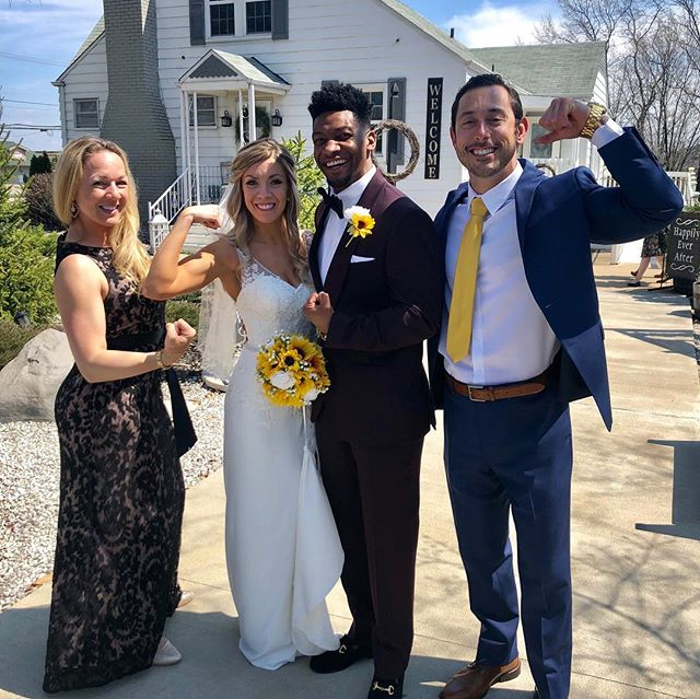 Congratulations to newlyweds trainer Providence L Tucker IV and lovely bride Arriana Dick!  These two swolemates will lift happily ever after. 💪🏻 💒  Love to you both!  @thefourthprov @arrianadk #justdudas #dudasfitness #swolemates #iamarete #arete #areteaccelerator #fitness #personaltrainers #personaltraining #marryme #marrymecottage #cottlevillemo #lifttogether #praytogetherstaytogether #lifttogether #happilyeverafter #beautifulbride #handsomegroom #love