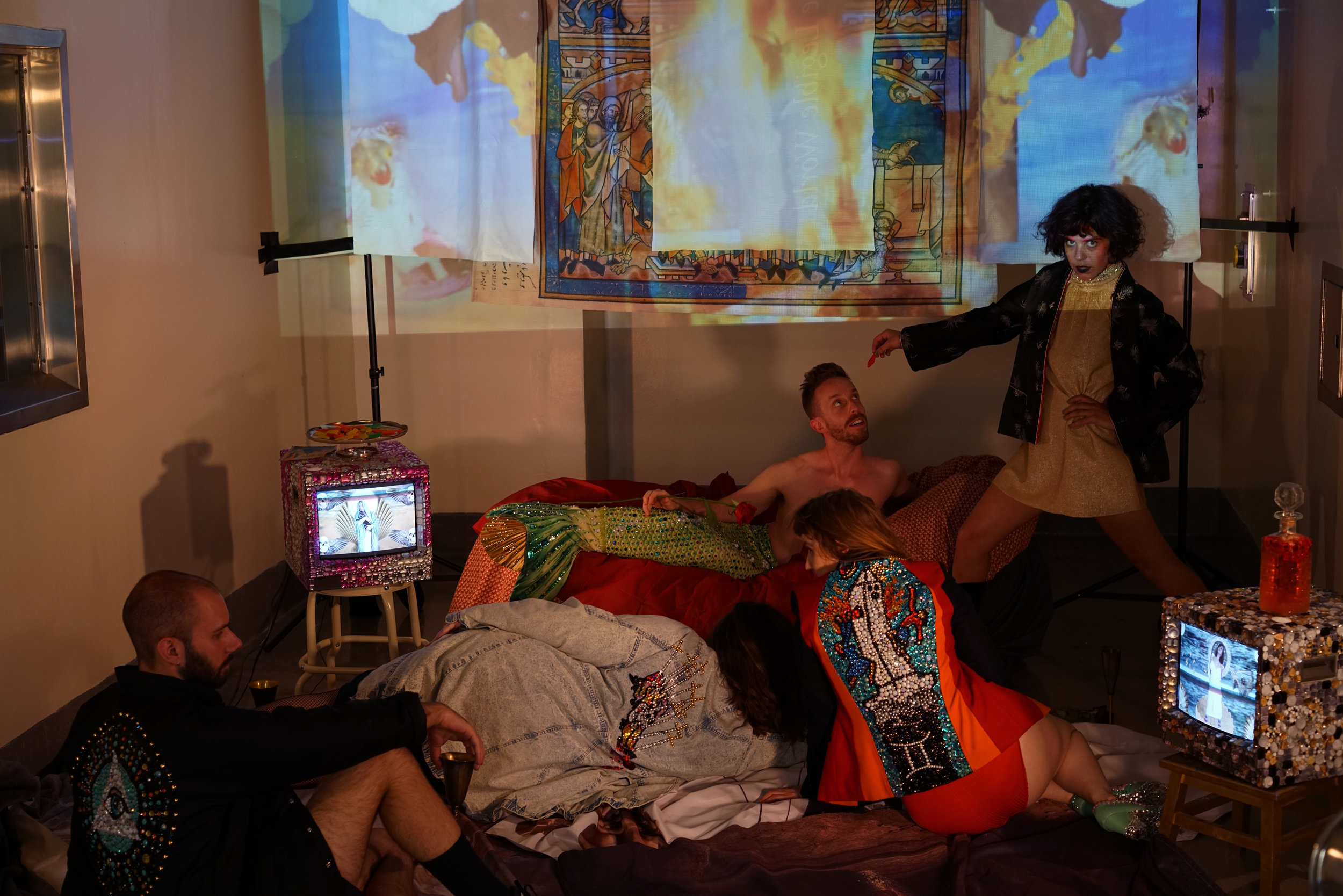 Zito's Chapel   Video and Performance Installation  photos by Tiffany Smith