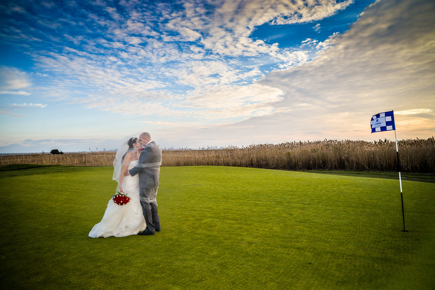 bridal couple at Seaview resort Galloway, New Jersey / Meyer Photography