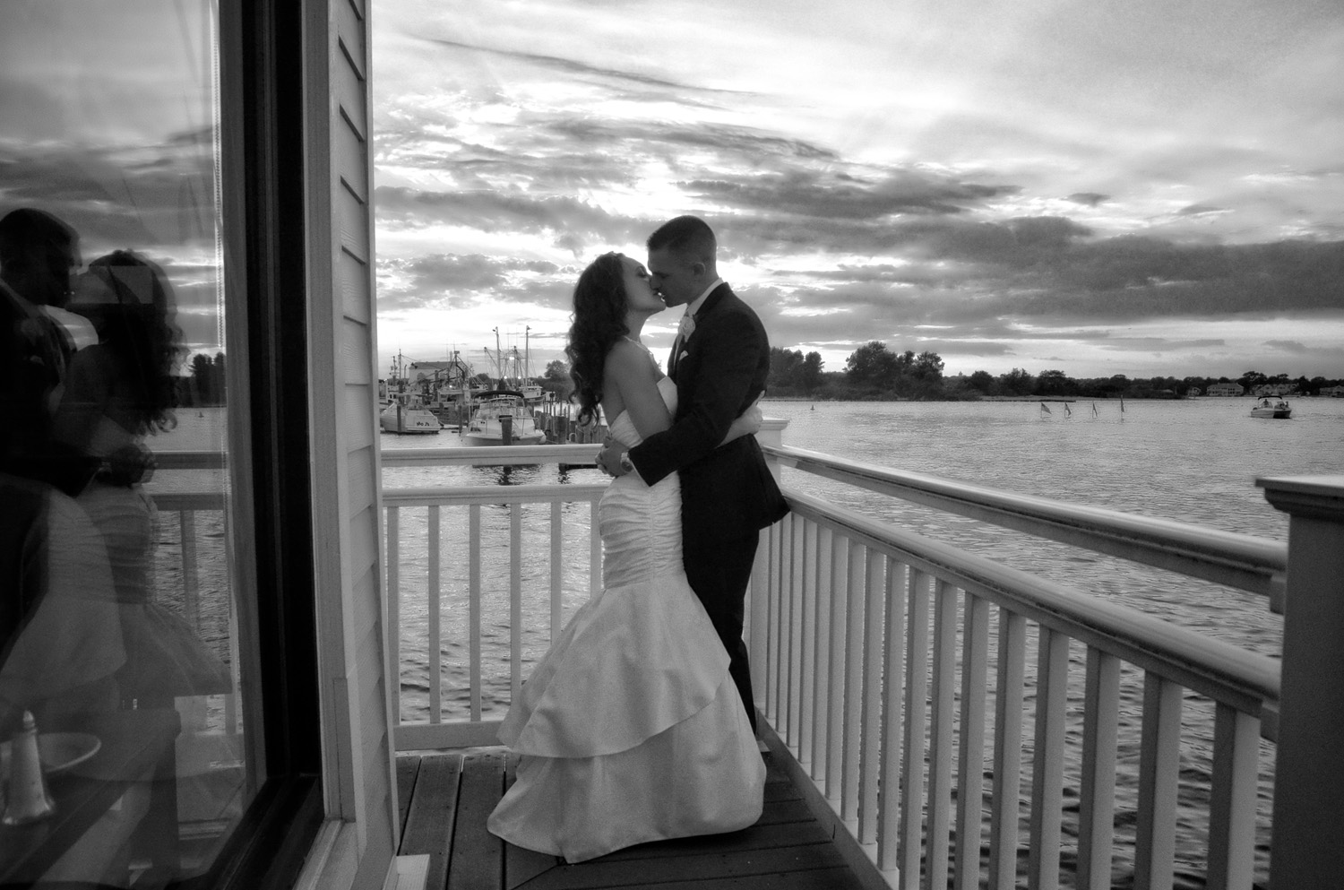 Jersey Shore bridal silhouette / Meyer Photography