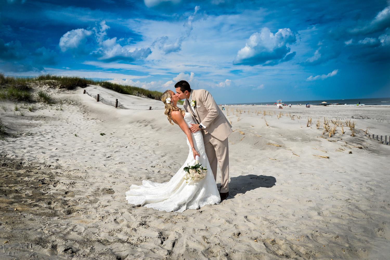 Brigantine, New Jersey beach on wedding day / Meyer Photography