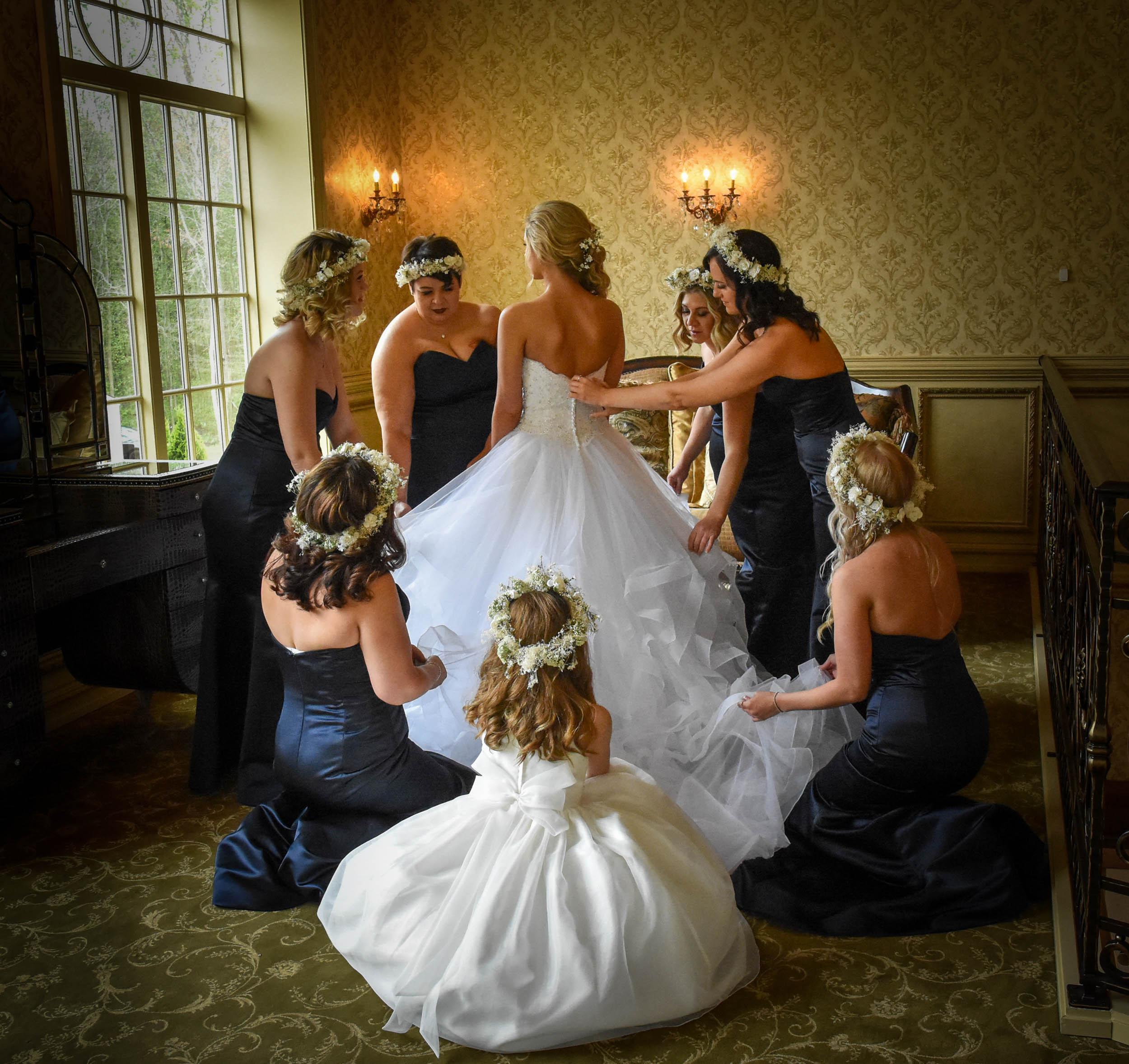 Bride getting ready at Brigalias