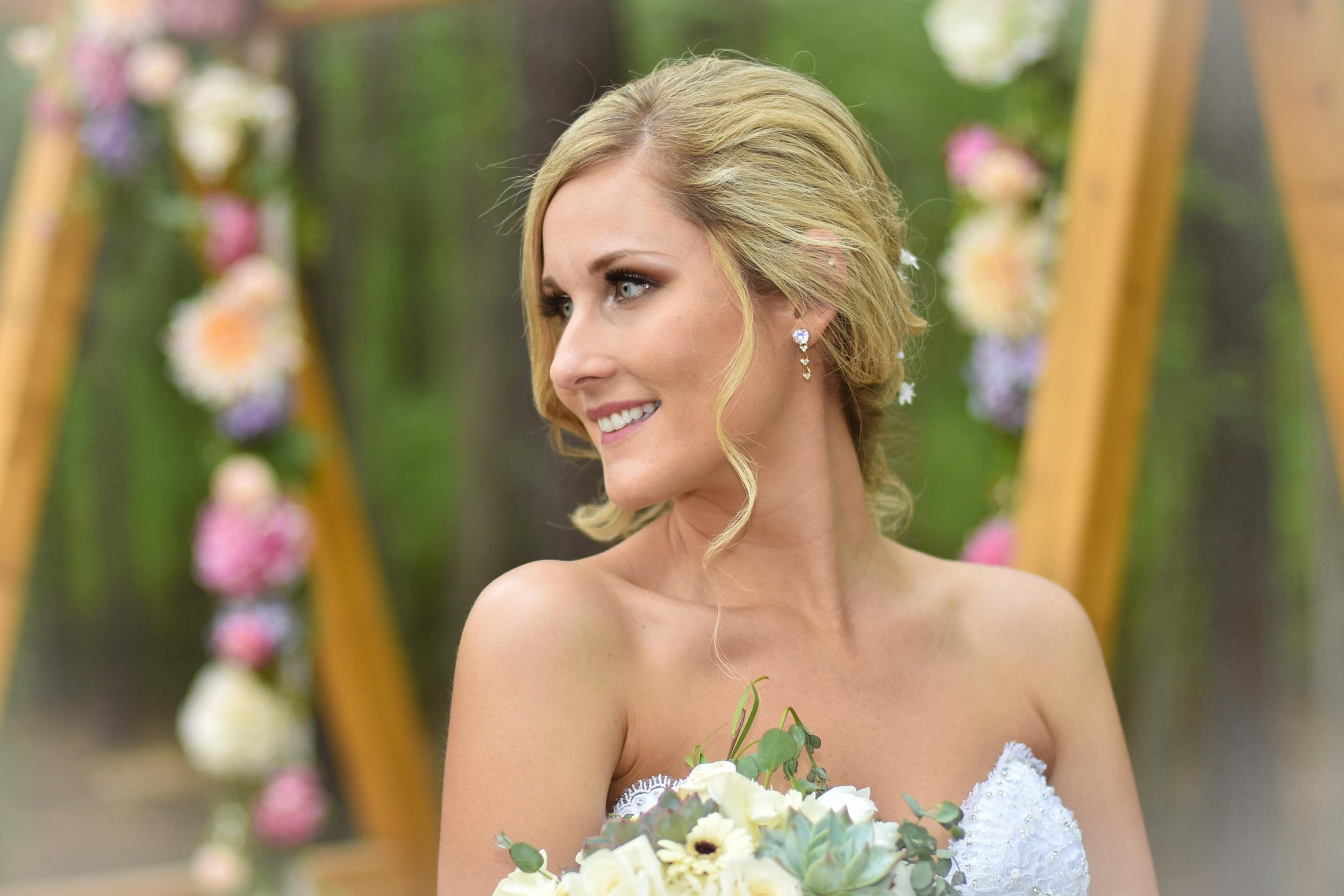 Bride on flower swing Brigalias