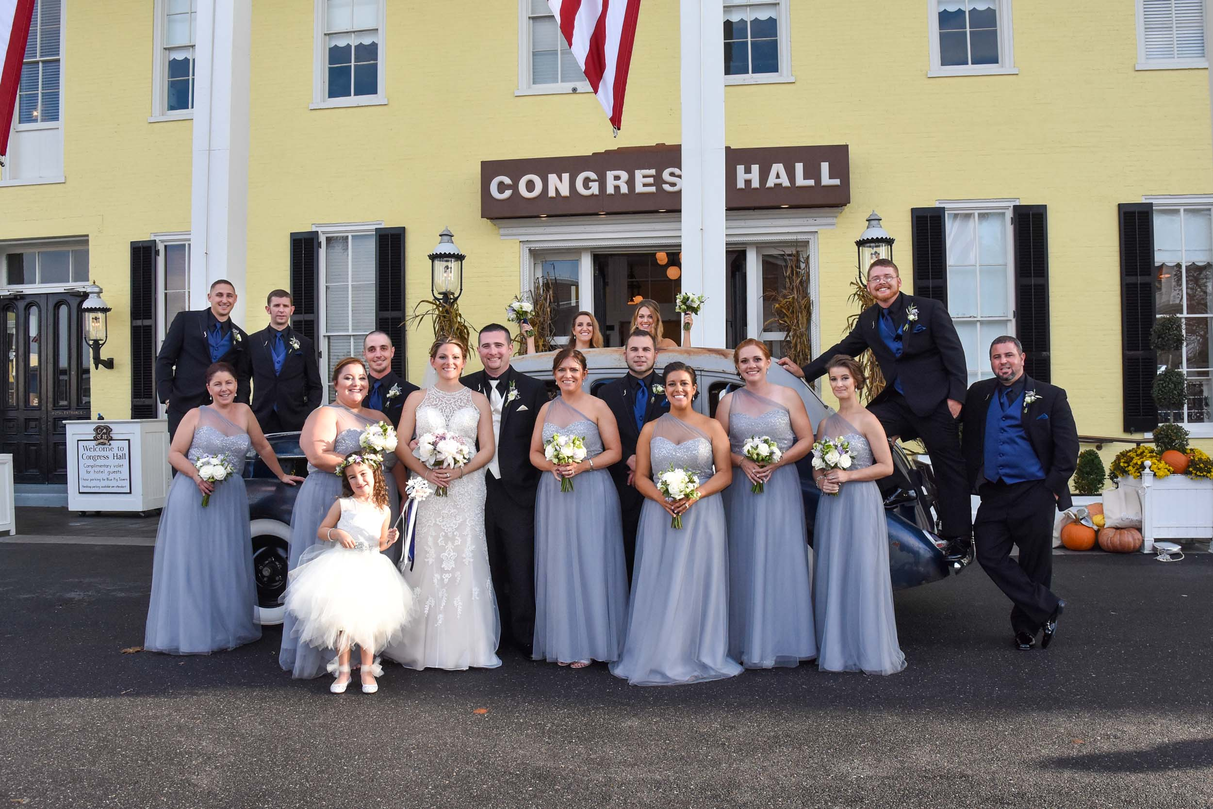 Congress Hall Cape May bridal party