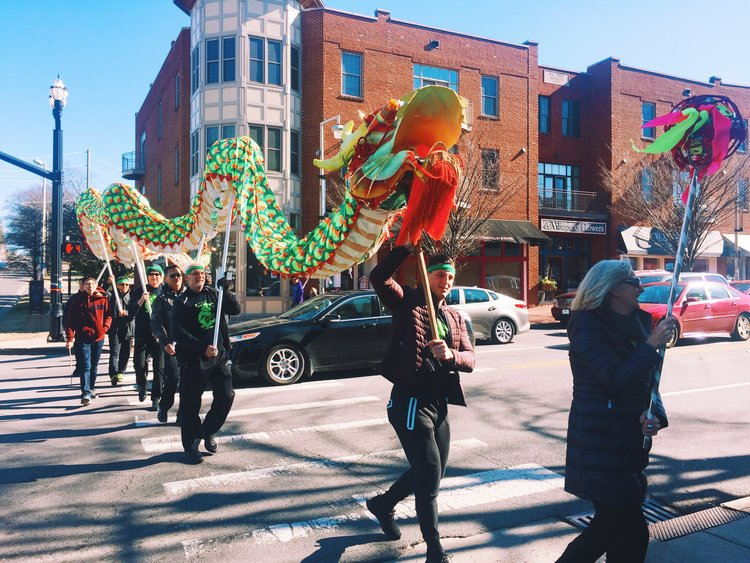 Photo from the  Chinese New Year celebration  I went to in Nashville.