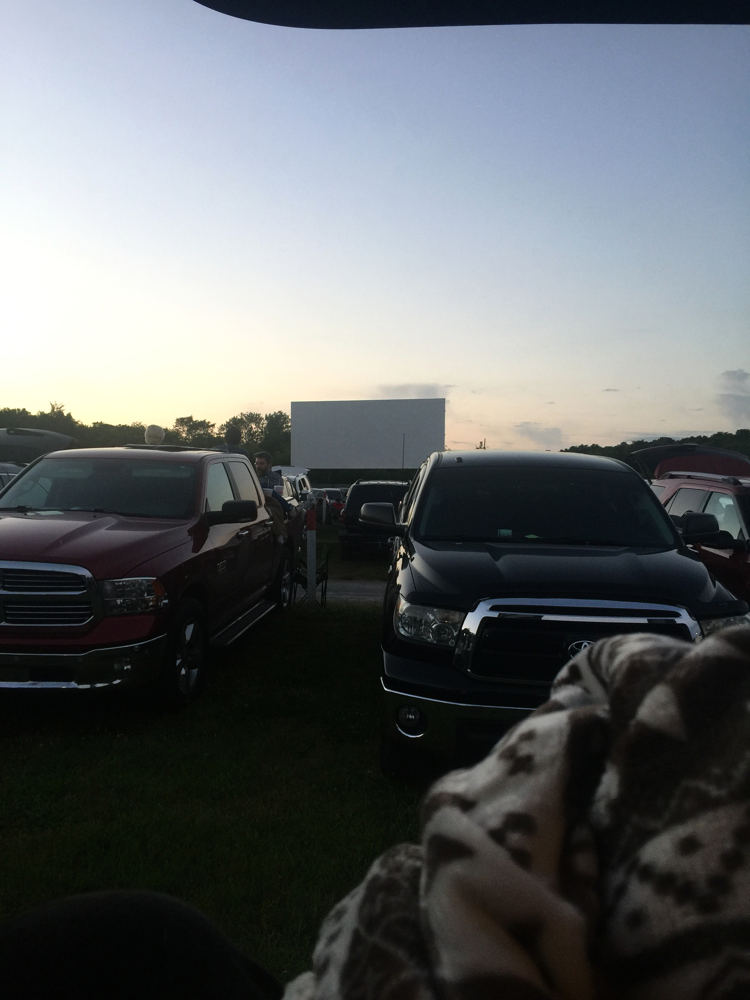 & went to a drive-in movie!